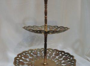 Cake Stands 28x18 centimetre 455 gram Brass vintage