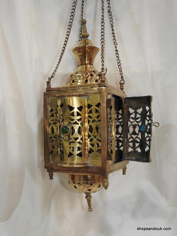 Ceiling Lantern 42x21 centimetre 450 gram yellow 9SP 6SP Brass Oxidized