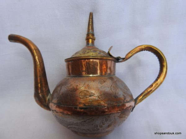 Tea pot 14x14 centimetre 140 gram Copper