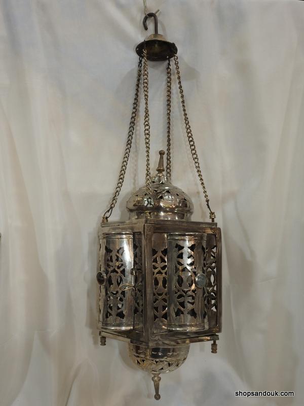 Ceiling Lantern 42x21 centimetre 450 grams Brass SilverPlated