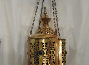 Ceiling Lantern 42x21 centimetre 450 gram yellow Brass