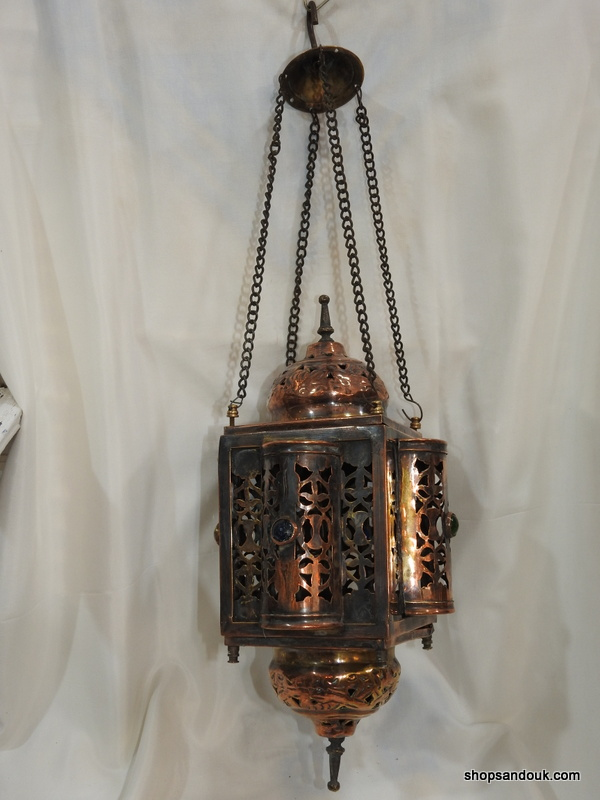 Ceiling Lantern 42x21 centimetre 450 grams Brass Oxidized