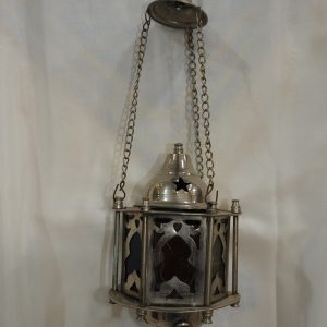 Ceiling Lantern 20x11 centimetre 400 gram Brass plated silver