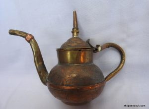 Tea pot 25x13 centimetre 275 gram Copper