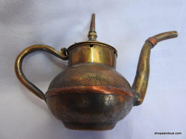 Tea pot 25x13 centimetre 275 gram Copper