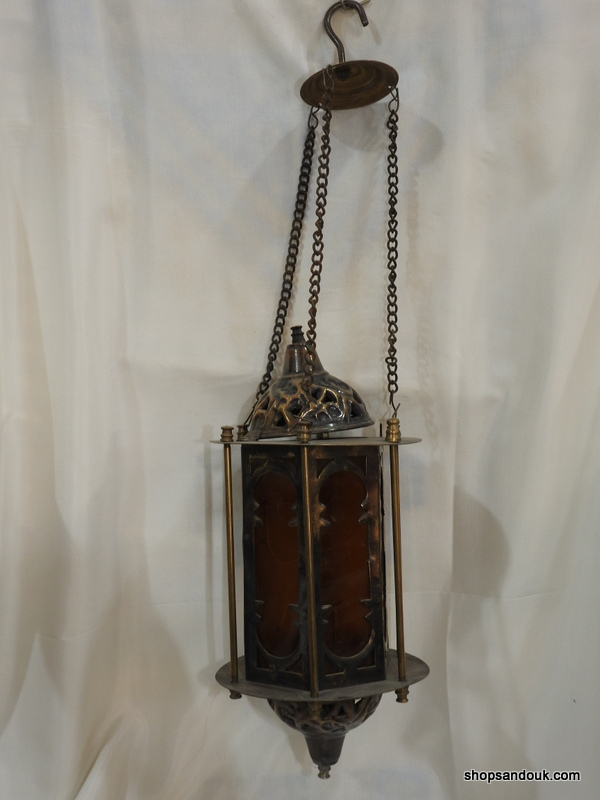 Ceiling Lantern 35x15 centimetre 850 gram Oxidized