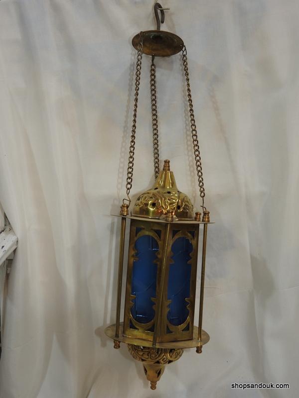 Ceiling Lantern 35x15 centimetre 850 gram yellow Brass