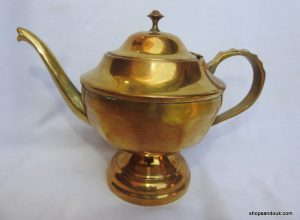 Tea pot 18x24 centimetre 530 gram Brass