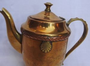 Tea pot 19x21 centimetre 520 gram Brass