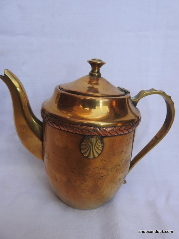 Tea pot 19x21 centimetre 520 gram Brass