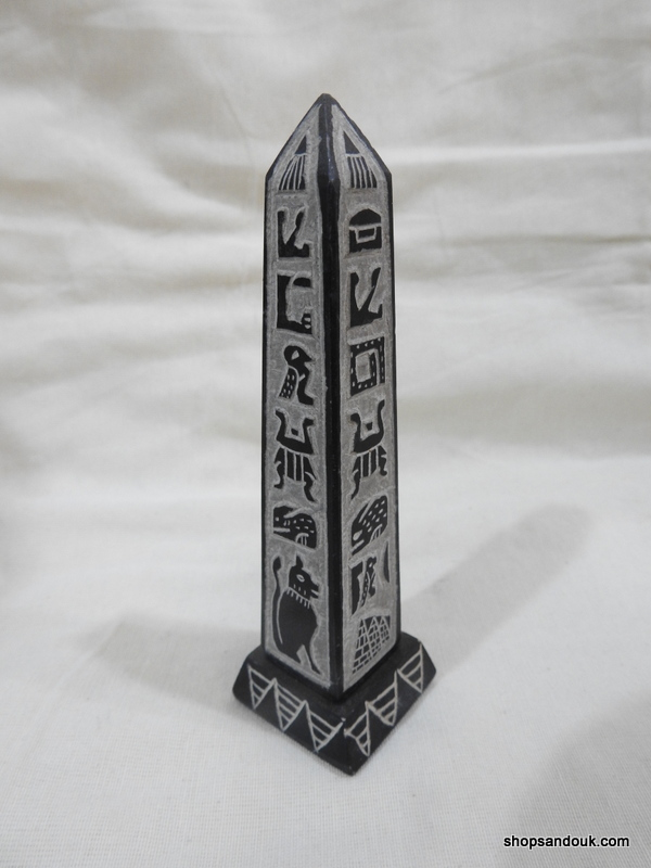 Oblisque 20x5 centimetre 270 gram Bazalt