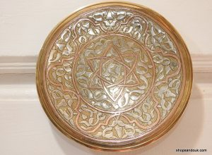 Tray 17 centimetre 350 gram brass decorative tin and copper