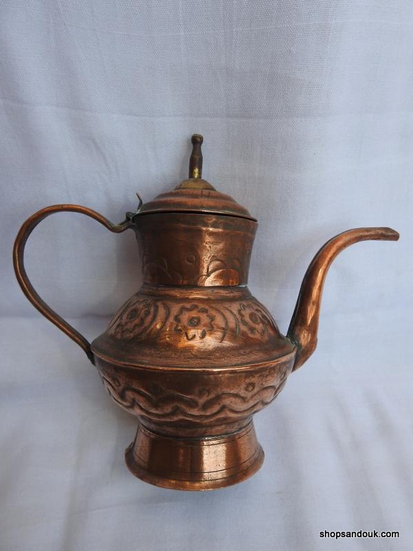 Tea pot 20x23 centimetre 660 gram Copper