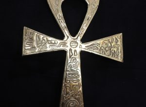 Ankh Key Of Life 21x12 centimetre 195 grams Brass Pharaonic Motive Hand Carved