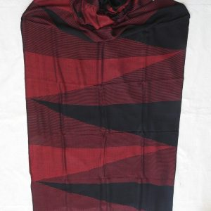 Shawls 195x75 centimetre Pure Cotton Black and Red
