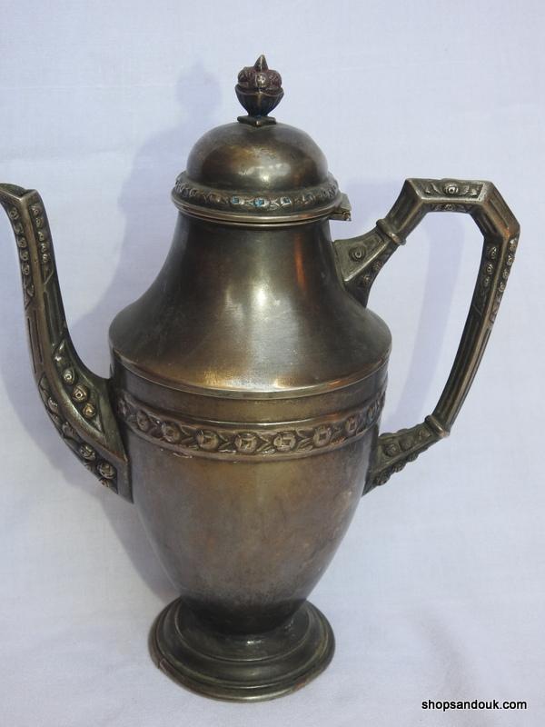 Tea pot 27x21 centimetre 625 gram Copper