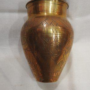 Vase 12x9 centimetre 95 gram Brass