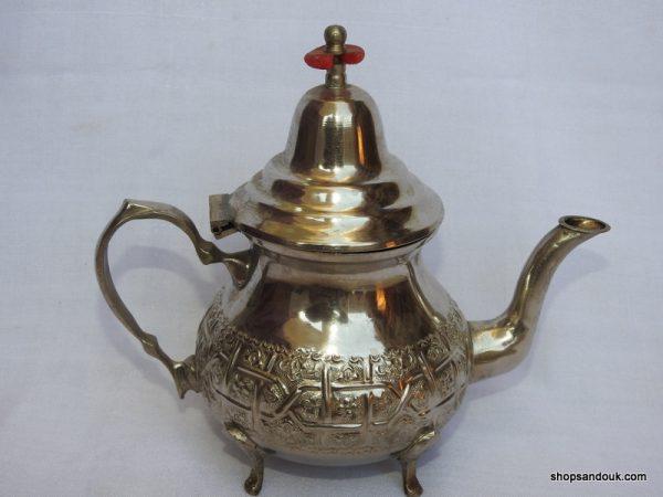 Tea pot 21x23 centimetre 400 gram Brass