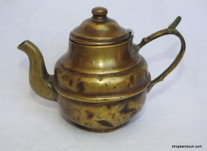 Tea pot 13x19 centimetre 270 gram Brass