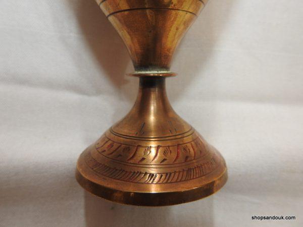Vase 21x8 centimetre 320 gram Copper vintage