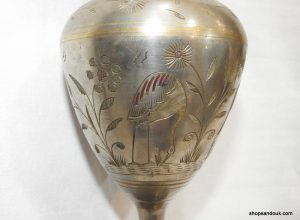 Vase 28x12 centimetre 665 gram Brass vintage