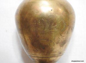 Vase 21x7 centimetre 275 gram Brass vintage