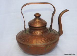 Tea pot 20x24 centimetre 600 gram Copper