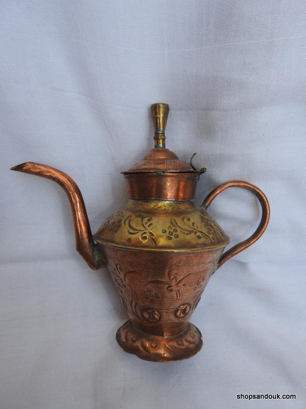 Tea pot 15x20 centimetre 140 gram Copper
