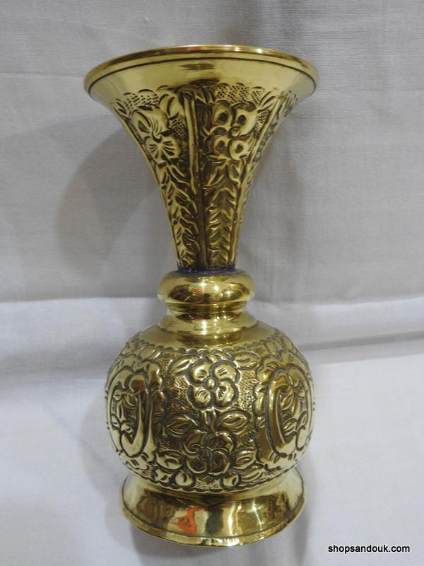 Vase 22x11 centimetre 270 gram Brass