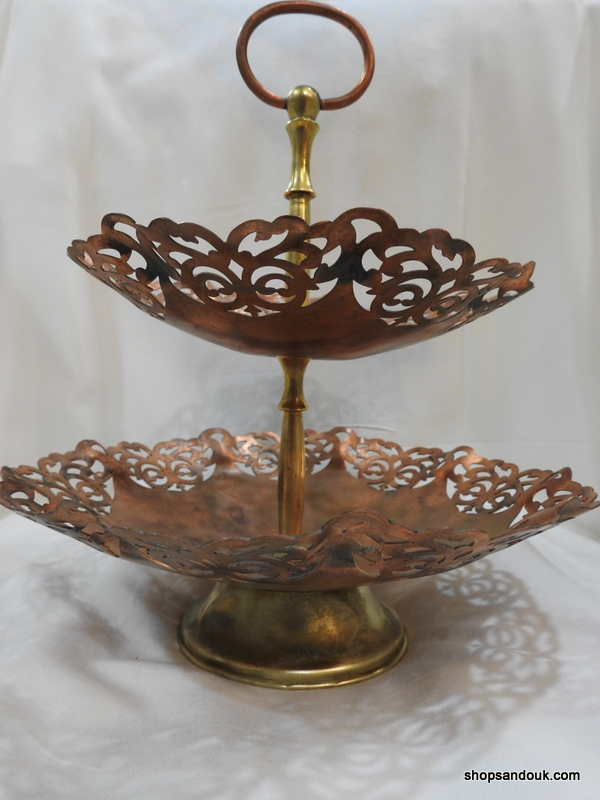 Cake Stands 28x25 centimetre 720 gram Copper vintage