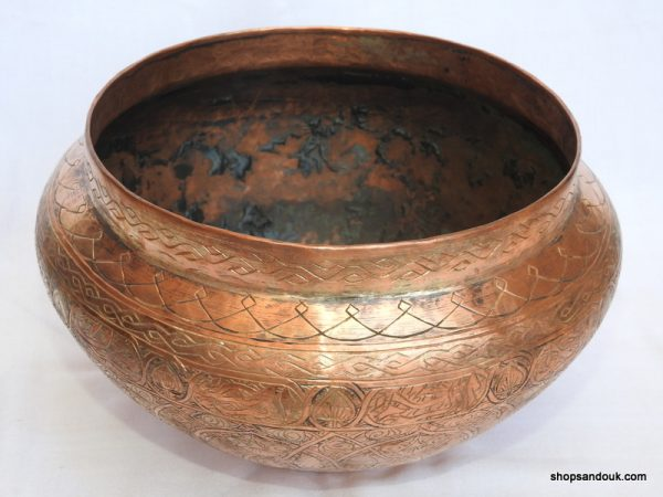 Plant pot 32x18 centimetre 2075 gram copper