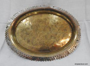 Oval Tray 33x25 centimetre 420 gram Vintage