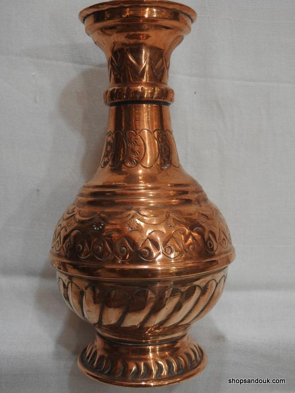Vase 21x12 centimetre 380 gram Copper vintage