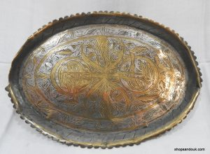 Oval Tray 35x26 centimetre 515 gram Vintage