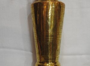 Vase 30x11 centimetre 700 gram Brass vintage