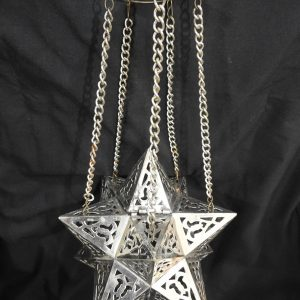 Ceiling Lantern 22x22 centimetre 350 gram Brass plated silver
