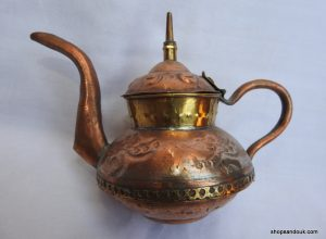Tea pot 10x15 centimetre 140 gram Copper