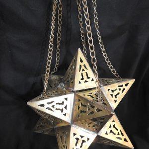 Ceiling Lantern 25x25 centimetre 900 gram yellow Brass