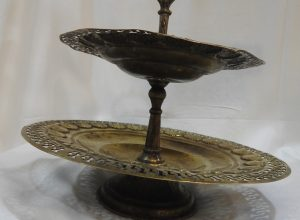 Cake Stands 24x20 centimetre 380 gram Brass vintage