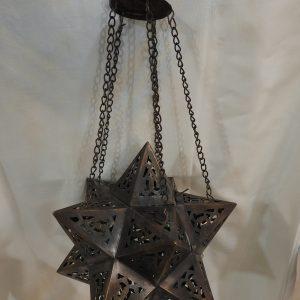 Ceiling Lantern 22x22 centimetre 350 gram Oxidized