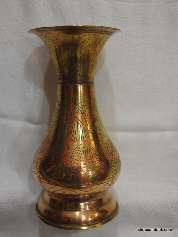 Vase 18x9 centimetre 205 gram Brass vintage