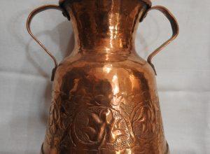 Vase 18x14 centimetre 485 gram Copper vintage
