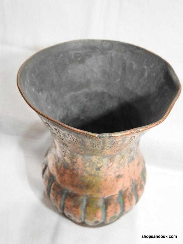 Vase 17x12 centimetre 320 gram Copper vintage