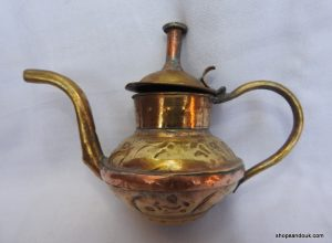 Tea pot 11x16 centimetre 140 gram Brass