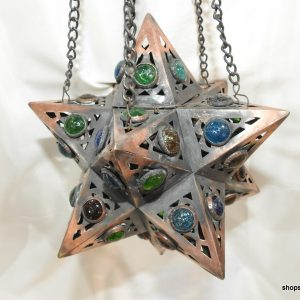Ceiling Lantern 25x25 centimetre 750 gram Beads Oxidized