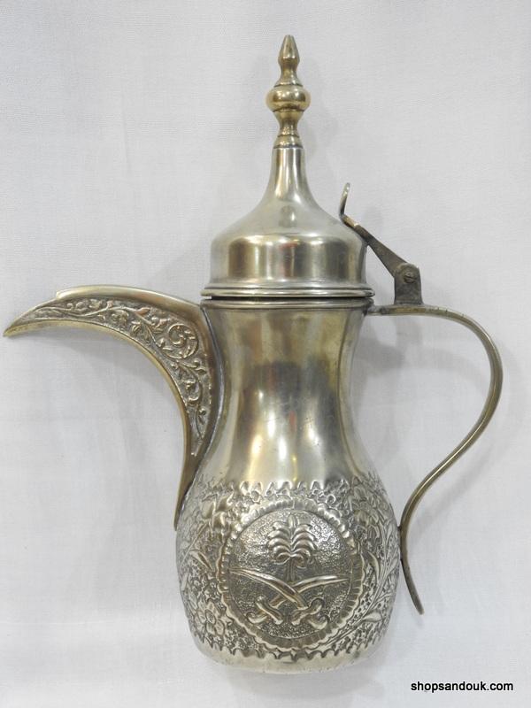 Shop sandouk Dallah 30centimetre 840gram copper plated silver