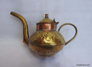 Tea pot 10x15 centimetre 140 gram Brass
