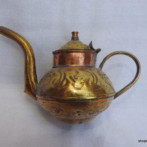 Tea pot 10x15 centimetre 140 gram Brass