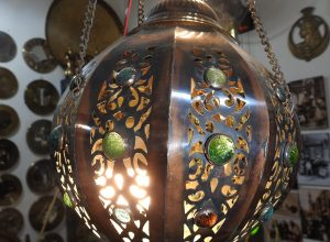 Ceiling Lantern 41 centimetre round 850 gram Copper