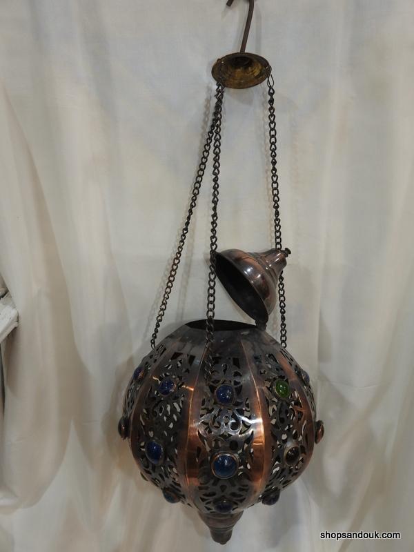 Ceiling Lantern 33 centimetre round 510 gram Brass